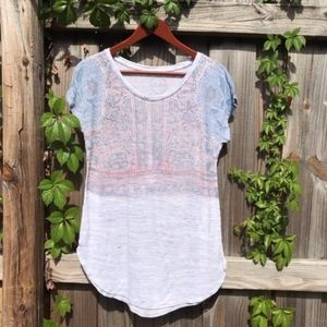 LUCKY BRAND| Tee Size M WHITE
